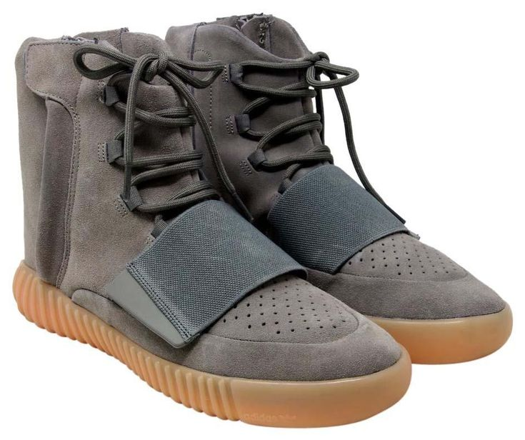 Adidas Yeezy Boost 750 Light Glow In The Dark Suede Bb1840 Grey/Gum Athletic Shoes