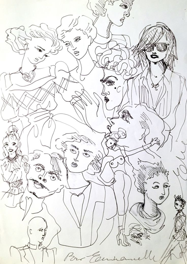 thriller adolescent — drawing by Elie Top