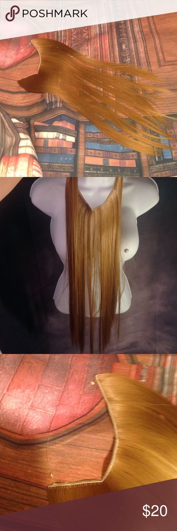 Clear band hair extension Dark blonde light Browne I have 2 Accessories Hair Accessories