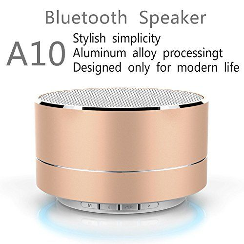 WANHUA Bluetooth Speaker (High Definition Audio,Louder Volume,Strong Bass,Passive Subwoofer,Superior Sound,Universal) Portable Wireless Speaker for iPhone, iPad, Computer, Samsung and More (Gold). BEST VALUE FOR YOUR MONEY: Thanks to its robust construction - this amazing portable bluetooth speaker delivers the best value for your money. With its premium stainless steel casing, you can rest assured that it's made to last!. UNPARALLELED QUALITY: Your satisfaction means everything to us....