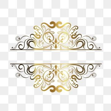 Green Gold Frame Vector European Pattern Background Vintage Borders Royal Frame Rose Gold Frame