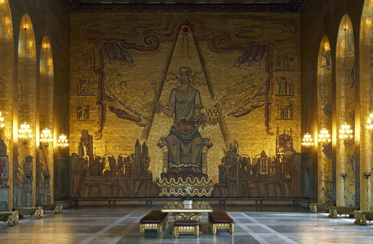 Golden Hall in Stockholm's City Hall