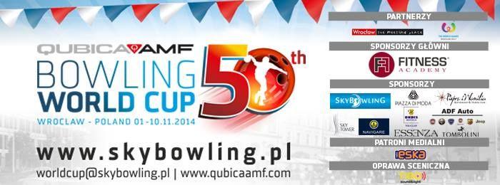 Informujemy, iż w dniach 02.11 - 09.11.2012 w kręgielni Sky Bowling odbędzie się 50.Puchar Świata - QubicaAMF World Cup 2014.   W tych dniach tory nie będą dostępne dla klientów, jednak serdecznie zapraszamy do kibicowania zawodnikom z 89 krajów na trybunach przed kręgielnią . Wstęp na trybuny będzie bezpłatny.