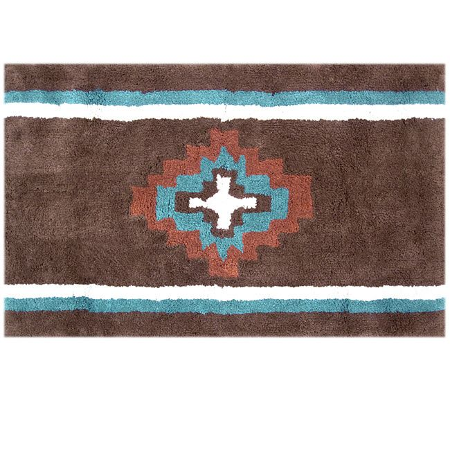 Best Southwestern Bathroom Accessories Ideas On Pinterest - Turquoise and brown bathroom rugs for bathroom decorating ideas