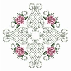 Pearl Roses Quilt 5 - 3 Sizes! | Quilt | Machine Embroidery Designs | SWAKembroidery.com Ace Points Embroidery