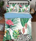 3D Flamingo Zebra Palm Leaf Bettbezüge Set Bettbezug Set Bettwäsche Kissenbezug …   – Bedding