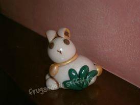 coniglietto realizzato in pasta gabrylea