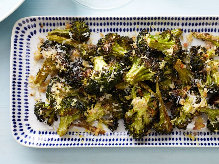Asiago Roasted Broccoli: Food Network, Recipes Sides, Side Dishes, Asiago Roasted Broccoli, Network Kitchens, Healthy, Veggies Side, Cooking Recipes, Roasted Broccoli Recipes