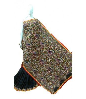 Kantha Work Bangalore Silk Saree
