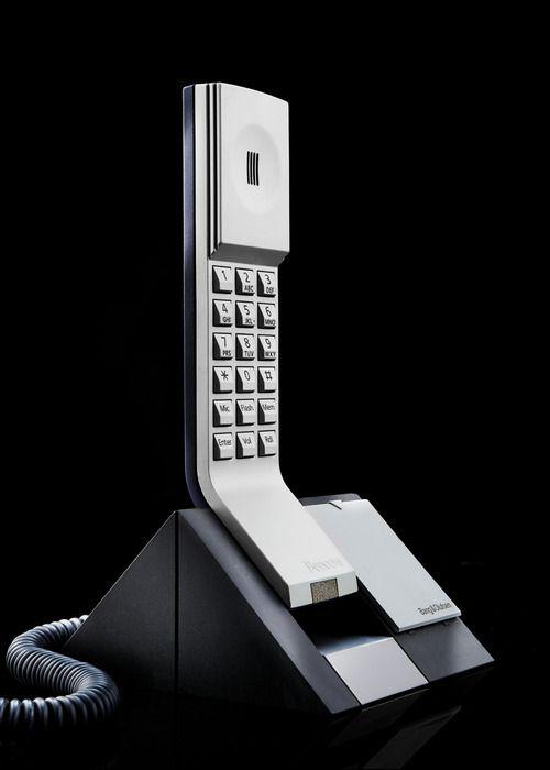 design-photographs:  Bang  Olufsen Beocom 1401 Telephone Designed by Martin Iseli 1992. Austin Calhoon Photograph www.austincalhoon.com