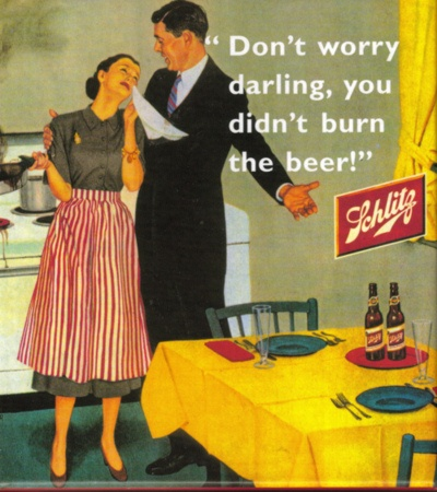 Don't worry darling. You didnt burn the beer