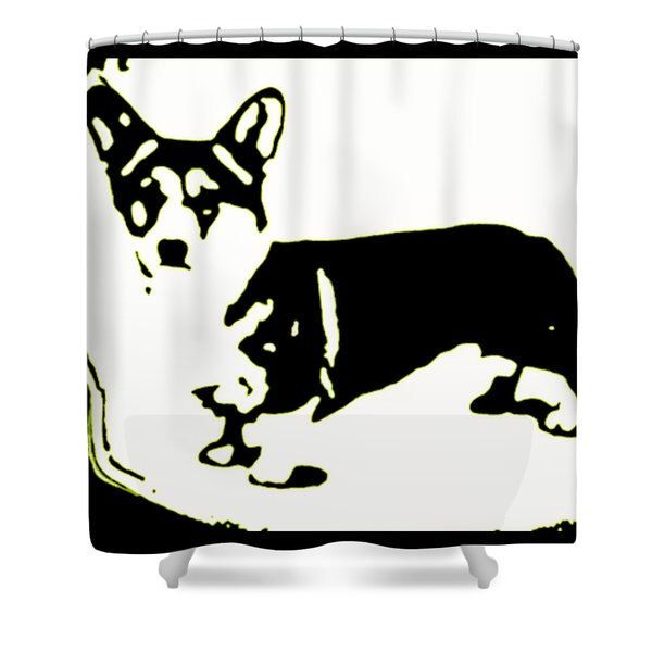 Designer Shower Curtain  Corgi Bathroom Curtain  Bathroom Decor  Dog  Bathroom Accessories  Pet. Best 25  Dog bathroom ideas on Pinterest   Dog potty  Dog backyard