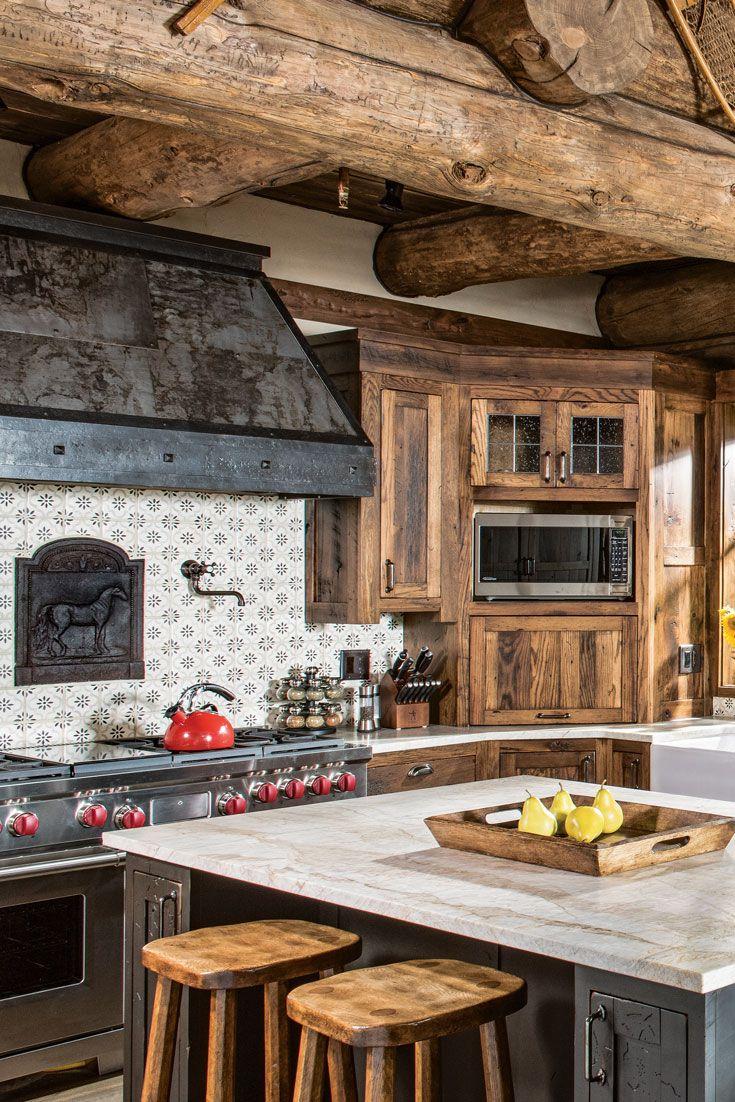 A Colorado Customized Dream Log Home Log Home Kitchens Log Cabin Kitchens Cabin Kitchens