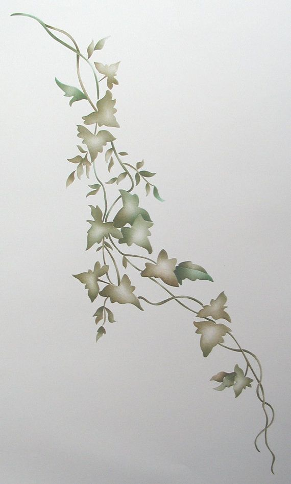 Freestyle Ivy Wall Stencil, Painting Stencil via Etsy