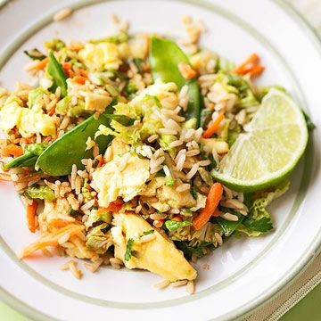 Enjoy the flavors of restaurant fried rice in this quick skillet side dish recipe.