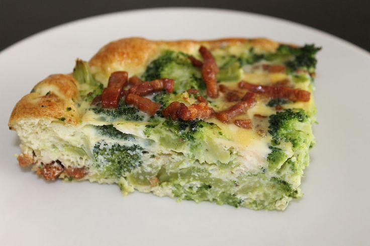 paleo æggekage broccoli bacon