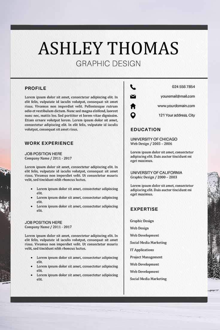 Resume Template Cover Letter Resume Format Ashley