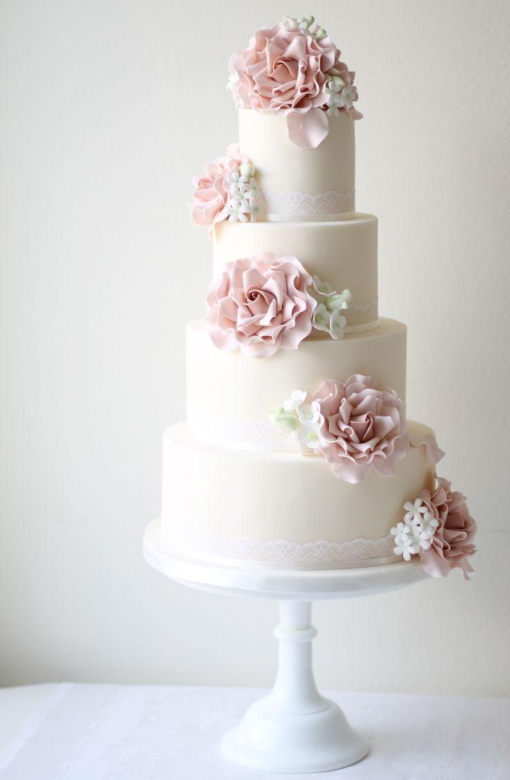 17 best Pale Blue Wedding Cakes images on Pinterest   Light blue ...