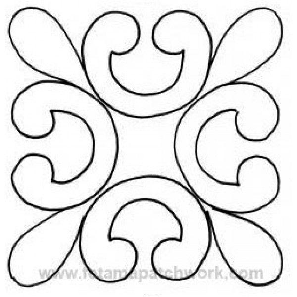 Mejores 11 imágenes de Plantillas en Pinterest | Bloques del edredón ...