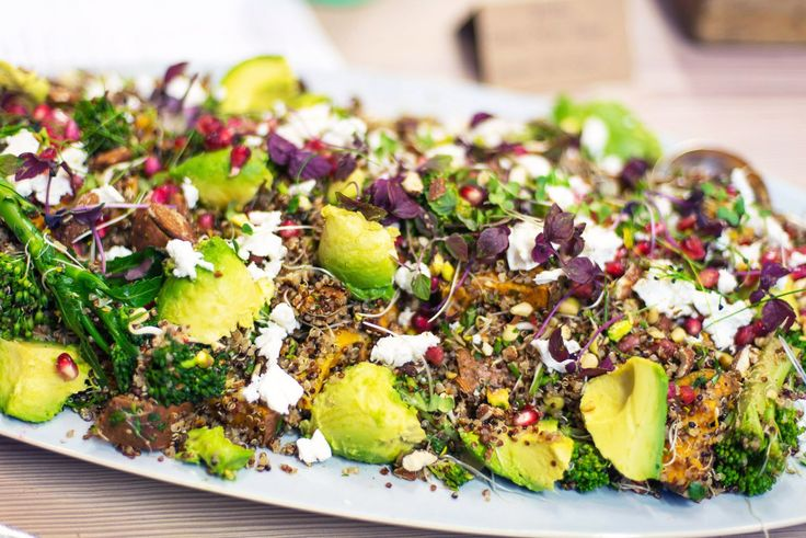 Jamie Oliver Superfood Salad with sweet potatoes, quinoa, feta cheese and avocado