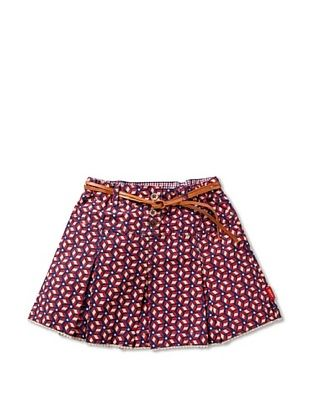 58% OFF Oilily Girl's Storm Geometric Print Skirt (Blue Geo)