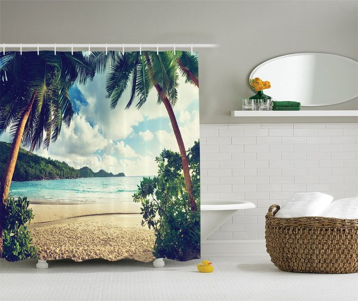 nautical and beach themed shower curtains beachfront decor