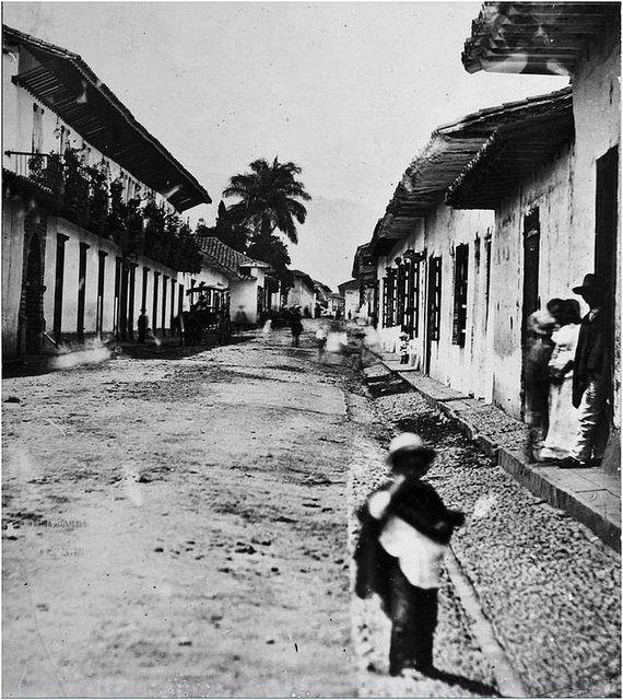 Calle Carabobo en 187...  Autor: Pastor Restrepo