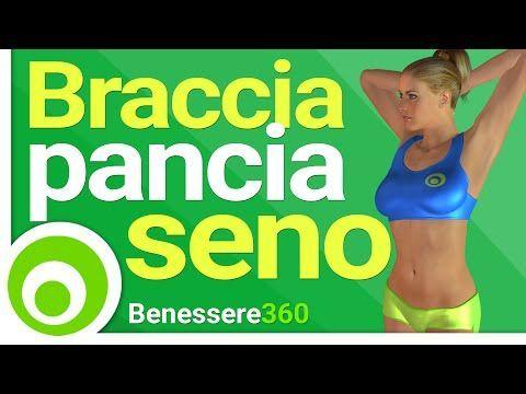 Braccia Toniche Seno Sodo e Pancia Piatta - Esercizi - 15 Minuti - YouTube