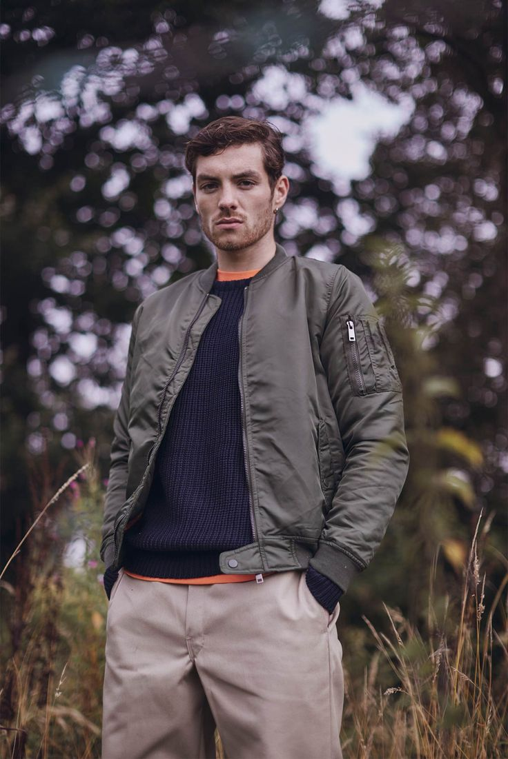 The Idle Man AW16 | The Idle Man Padded MA1 Bomber in Green - £44.90 | Shop this look now at theidleman.com | #StyleMadeEasy