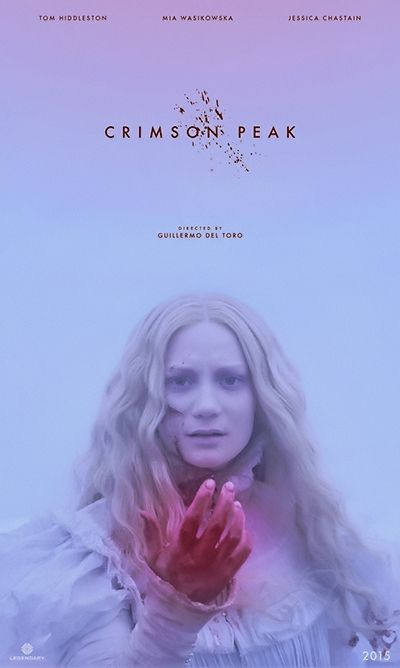 Crimson Peak fan poster by fakeassposters. Tumblr: http://fakeassposters.com/post/117522086664/crimson-peak-2016