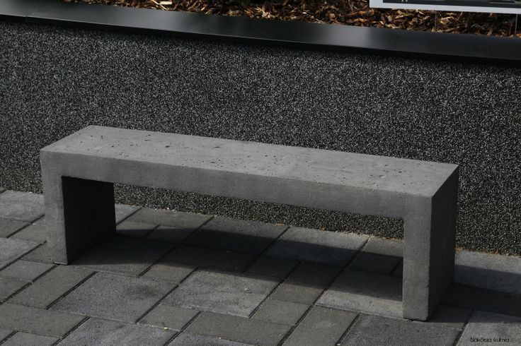 Concrete Bench Betonipenkki Home Design Outside