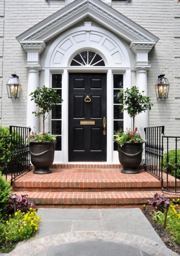 Stylish black front doors change your house 39 s curb appeal Curb appeal doors