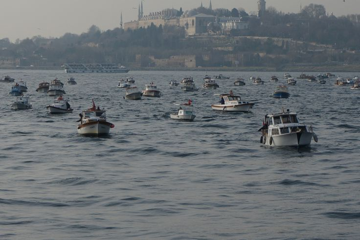 Стамбул, рыбаки
