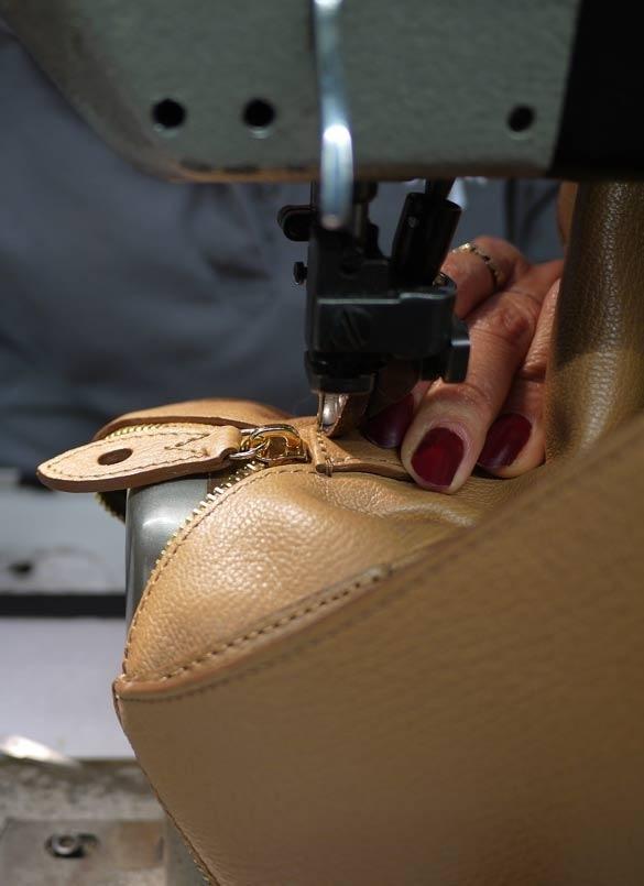 Carefully finishing the seam stitching