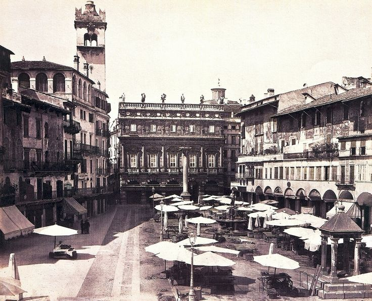 Verona - Piazza delle Erbe - 1875