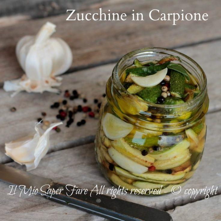 Zucchine in carpione ricetta con zucchine