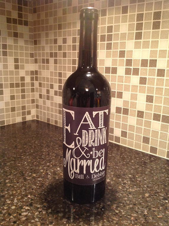 Wedding Wine Labels Wedding, Custom Wine Labels, Wine Wedding favor on Etsy, $12.00. cute!!