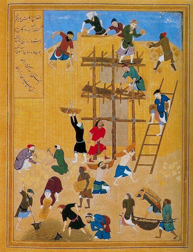 ساختن قصر خورنق  کمالالدین بهزاد