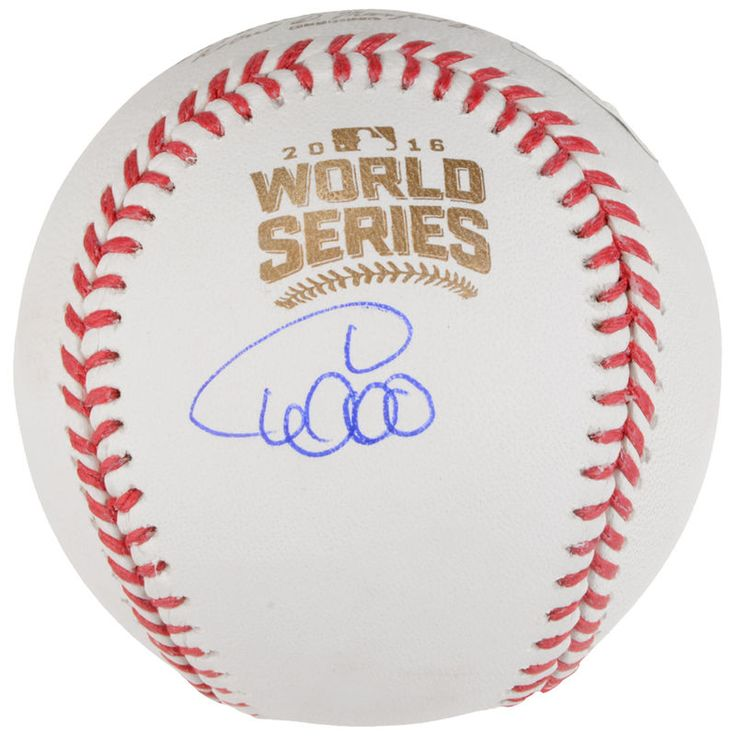Willson Contreras Chicago Cubs Fanatics Authentic 2016 MLB World Series Champions Autographed World Series Logo Baseball