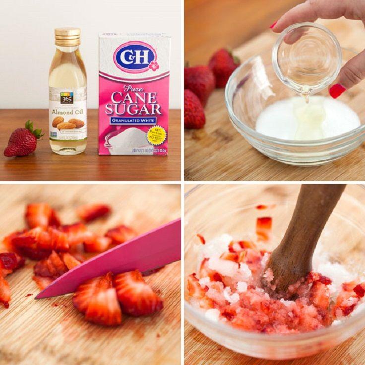DIY Natural Body Strawberry Scrub