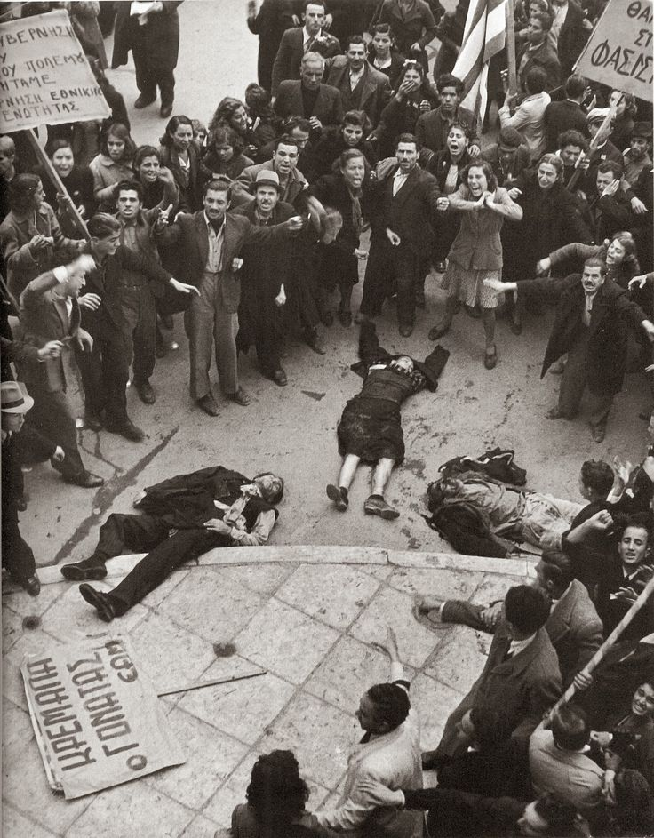 shocking outcome of Greek protest against British/Greek govt on December 4, 1944 and the start of the Greek Civil War