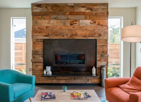 Image result for industrial fireplace surround