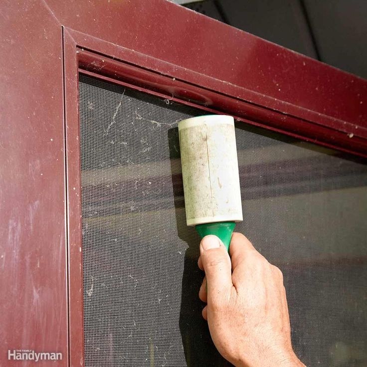 "Use a lint roller to ""de-fuzz"" you window screens and remove cobwebs and small debris."
