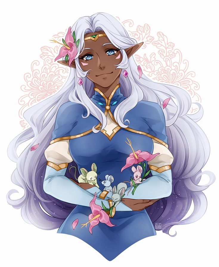 Princess Allura with her Space Mice and flowers from Voltron Legendary Defender