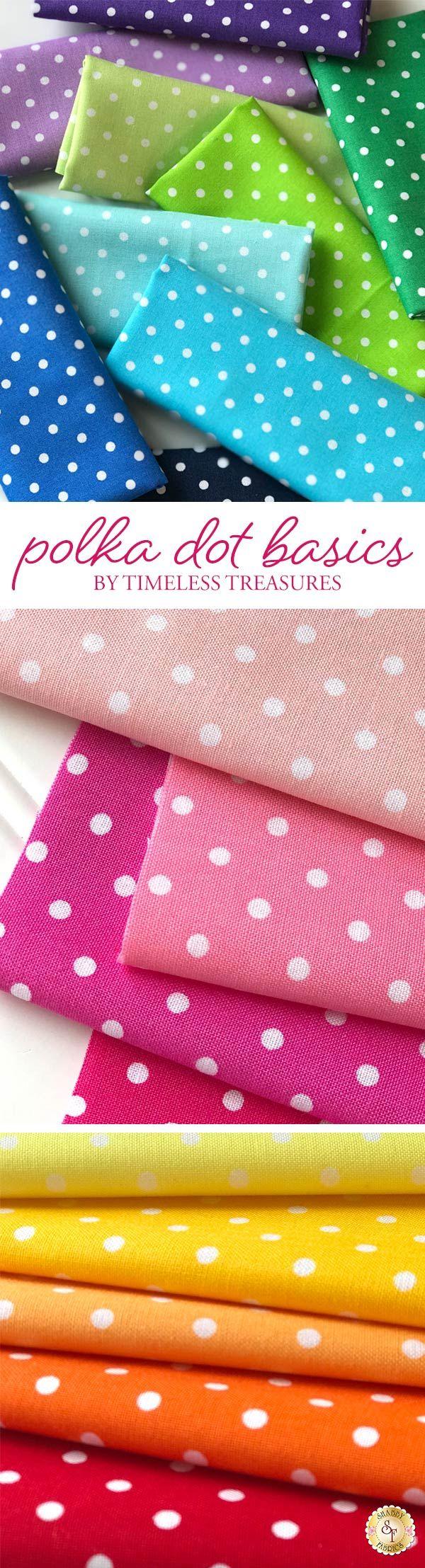 Polka Dot Basics is a lovely collection by Timeless Treasures Fabrics available at Shabby Fabrics