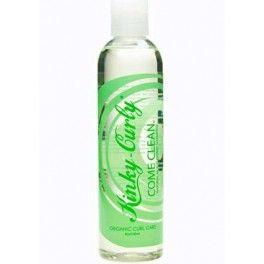 """Kinky Curly - Shampooing Come Clean 237 ml #KinkyCurly  Le #shampoing """"Come Clean"""" de Kinky Culy élimine les minéreaux (calcium, magnésium) laissé par l'eau dans vos cheveux. Il nettoie en douceur, hydrate et empêche le dépôt de calcaire. Idéal pour les cheveux abîmés.  Types de #cheveux : pour tous les types de cheveux   #SansSulfate, #SansAlcool, #SansParabène, Sans Protéine"""