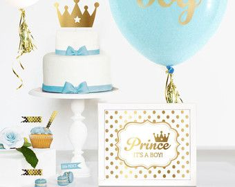 Prince Theme Baby Shower SIGN  Prince Theme Birthday by ModParty