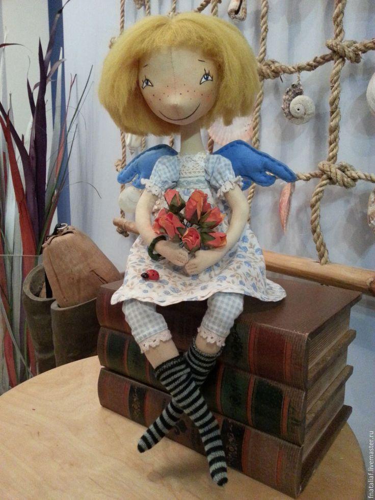 Купить Феечка с крылошками - кукла ручной работы, кукла интерьерная, кукла текстильная