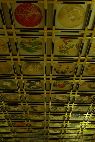 Ceiling paintings at Eiheiji Temple, Fukui, Japan