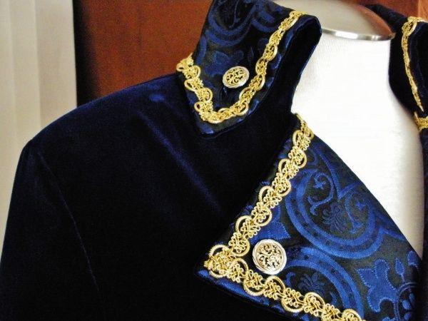 Captain Hook Pirate Coat - Royal Blue | Handmade Pirate Garb ...